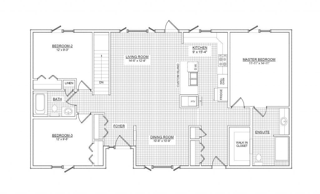 48 Bedroom 48 Bathroom RTM House Plan RTM48854801048 Grandeur Interesting 3 Bedroom 2 Bath House Plans